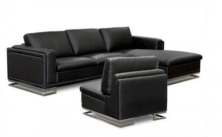 Diamond Sofa BLVDRFSECT3PCB Traditional Bonded Leather Living Room Set