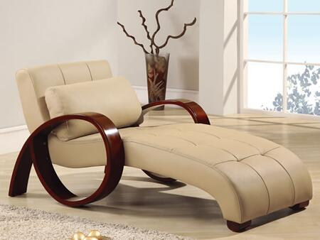 Global Furniture USA 963CAPRelaxChaise  Leather Chaise Lounge