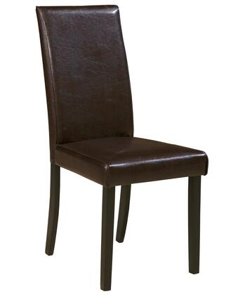 """Signature Design by Ashley Kimonte Collection D250-0X 19"""" Dining Room Side Chair with Faux Leather Upholstery, Cushioned Seating and High Solid Back in"""