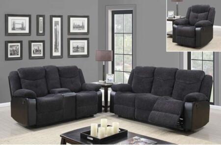 Global Furniture U1566JASMINEMOUSERSCRLSGR U1566 Living Room