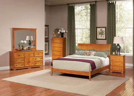 Atlantic Furniture BOROFAWQN  Queen Size Bed