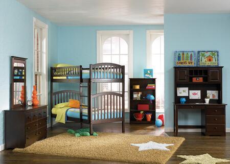 Atlantic Furniture YBBRICHMONDTWINTWINALAW Richmond Series  Twin Size Bunk Bed