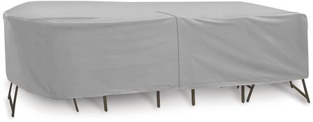"PCI by Adco 135"" x 60"" x 30"" Oval/Rectangular Table and 6 Patio Chairs Cover with Water Resistant, Secured Velcro Ties and Heavy Duty Vinyl Fabric in"