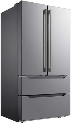 Midea MRQ23B4AST 36 Inch French Door Refrigerator, in