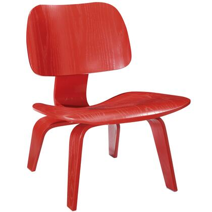 Modway EEI510RED Fathom Series Lounge Not Upholstered Wood Frame Accent Chair