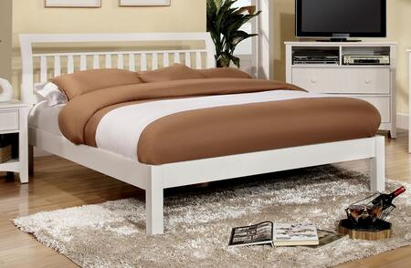 Furniture of America CM7923WHEKBED Corry Series  King Size Sleigh Bed