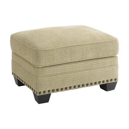 "Bassett Furniture Riverton Collection 3995-01FC/FC122-x 30"" Ottoman with Fabric Upholstery, Nail Head Accents, Tapered Block Feet and Traditional Style in"
