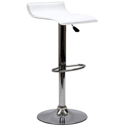 Modway EEI579WHI Gloria Series Residential Faux Leather Upholstered Bar Stool