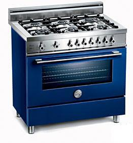 Bertazzoni X366PIRBLLP Professional Series Dual Fuel Freestanding Range with Sealed Burner Cooktop, 4 cu. ft. Primary Oven Capacity, in Blue