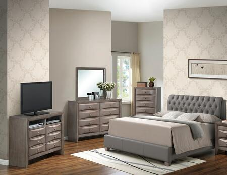 Glory Furniture G1505CQBUPCHDMTV2 G1505 Queen Bedroom Sets