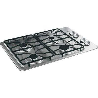 "GE JGP329SETSS 30"" Gas Sealed Burner Style Cooktop, in Stainless Steel"