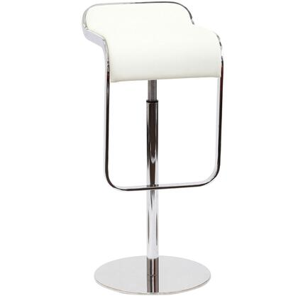 Modway EEI138WHI Lem Series Residential Leather Upholstered Bar Stool