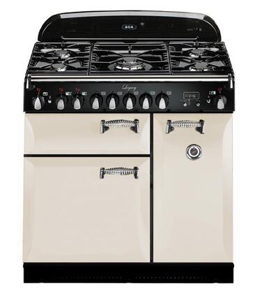 """AGA ALEG36DFIVY 36"""" Legacy Series Dual Fuel Freestanding Range with Sealed Burner Cooktop, 2.2 cu. ft. Primary Oven Capacity,"""