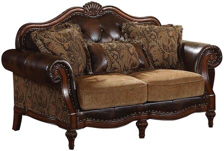 Acme Furniture 05496 Dreena Series Fabric Stationary with Wood Frame Loveseat