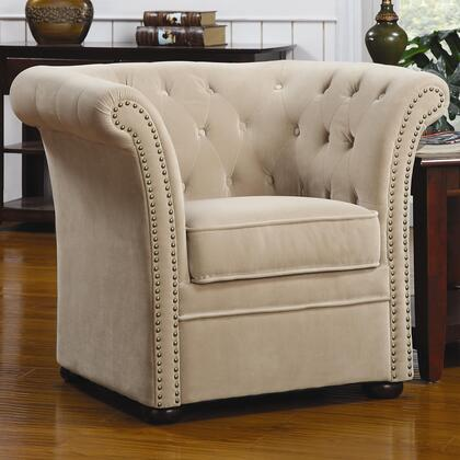 Coaster 902034 Club Fabric Wood Frame Accent Chair