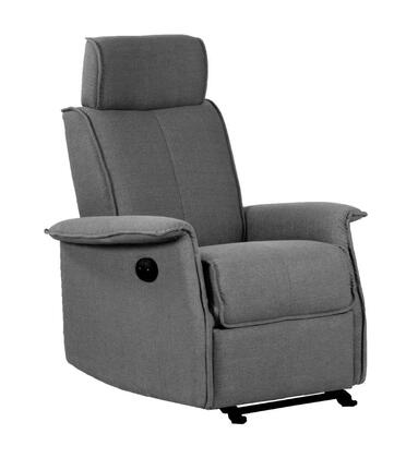 Dezmo D63699MLR Electric Push Button Recliner, with Glider Motion, with Micro-Fiber Fabric