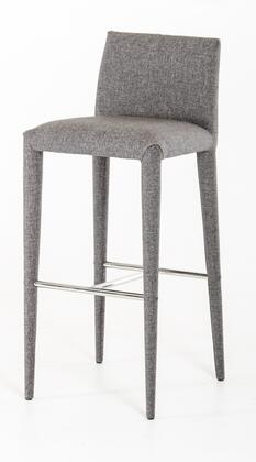 VIG Furniture VGEUMC8219CHB Modrest Medford Series Residential Fabric Upholstered Bar Stool