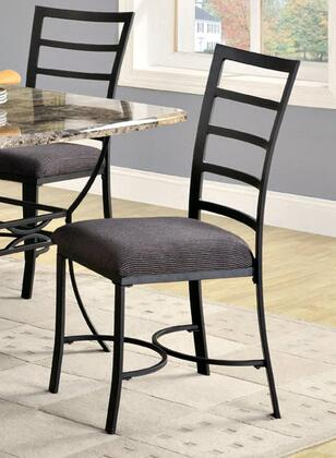 Coaster 120672 Ashford Series Contemporary Fabric Metal Frame Dining Room Chair