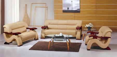 VIG Furniture VGEV2033BGE Modern Leather Living Room Set