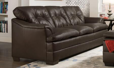 Simmons Upholstery 512203APOLLOESPRESSO Apollo Series  Faux Leather Sofa