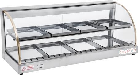 Skyfood FWD2x Food Warmer Display Case with Double Shelf