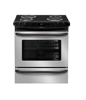 """Frigidaire FFES3015LS 30"""" Slide-in Electric Range with Coil Cooktop Storage 4.2 cu. ft. Primary Oven Capacity"""
