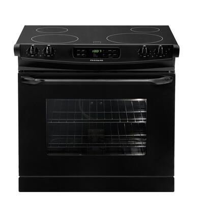 """Frigidaire FFED3025LB 30"""" Slide-in Electric Range with Smoothtop Cooktop, 4.2 cu. ft. Primary Oven Capacity, in Black"""