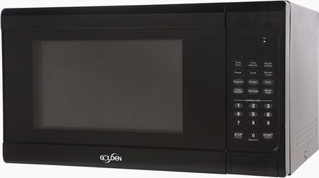Golden GM11B Countertop Microwave, in Black
