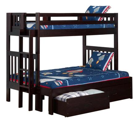 Atlantic Furniture AB63211  Twin Over Full Size Bunk Bed
