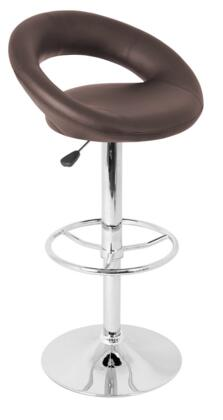 LumiSource BSTWPOSHBN Posh Series Residential Bycast Leather Upholstered Bar Stool