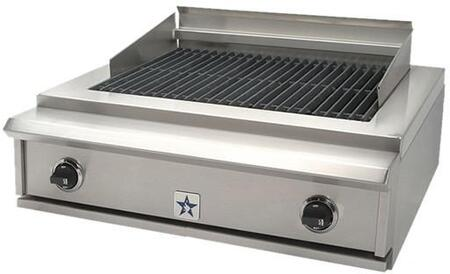 "BlueStar PRZ30IDCBLP 30"" Liquid Propane Grill Style Cooktop, in Stainless Steel"