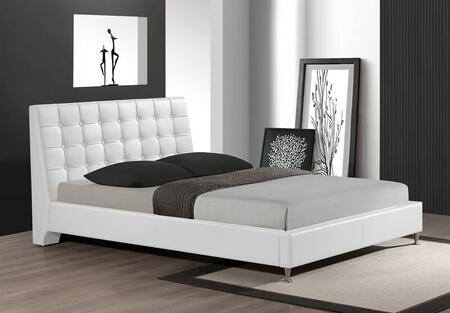 Myco Furniture 2951KWH Belle Series  King Size Platform Bed