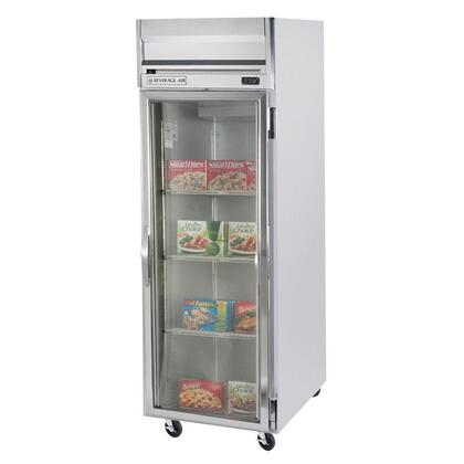 "Beverage-Air HBF23-1 27"" Horizon Series One Section [Solid Door] Reach-In Freezer, 23 cu.ft. Capacity, Stainless Steel Exterior and Interior, with Bottom Mounted Compressor"
