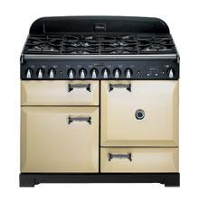 AGA ALEG44ECDCRM Legacy Series Electric Freestanding Range with Smoothtop Cooktop, 2.2 cu. ft. Primary Oven Capacity, Storage in Cream