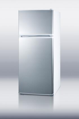 Summit FF1620WHSSIM Freestanding Top Freezer Refrigerator with 15.8 cu. ft. Total Capacity 2 Glass Shelves
