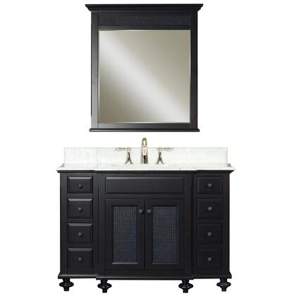 Water Creation LONDONC Single Sink Bathroom Vanity with London-M-2136 Matching Mirrors, Undermount Ceramic Lavatory Sink, Marble Countertop, Soft Closing Drawers and Solid Hardwood Construction in Dark Espresso