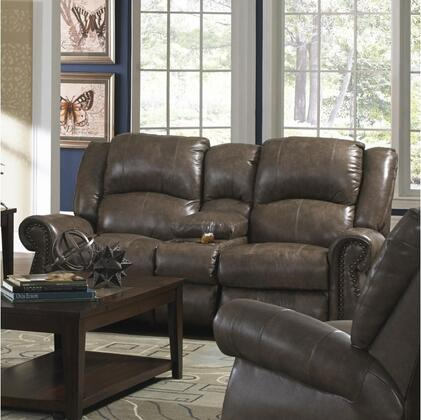 Catnapper 45096127428307428 Livingston Series Leather Reclining with Metal Frame Loveseat
