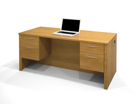 Bestar Furniture 60450 Embassy Executive Desk with Dual Half Peds