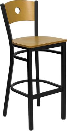 Flash Furniture XUDG6F6BCIRBARNATWGG Hercules Series Not Upholstered Bar Stool