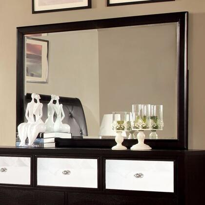 Furniture of America Bryant CM7288MX Mirror with Modern Style, Solid Wood, Wood Veneer and Others, Black Finish
