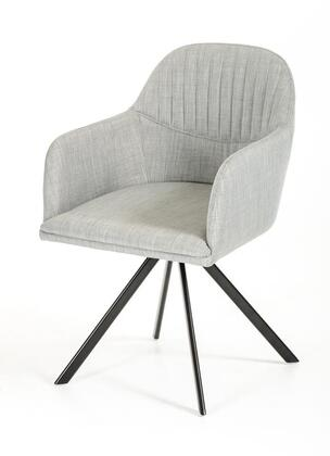 VIG Furniture VGEUMC8112CHAGRY Modrest Synergy Series Modern Fabric Metal Frame Dining Room Chair