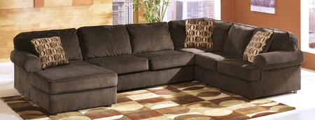 Milo Italia Alondra MI-3718TMP 3-Piece Sectional Sofa with X Arm Chaise, Armless Loveseat and X Arm Sofa in Chocolate