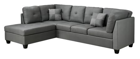 """Monarch I8375XX 107"""" Sectional with Left Arm Facing Chaise and Right Arm Facing Sofa in"""