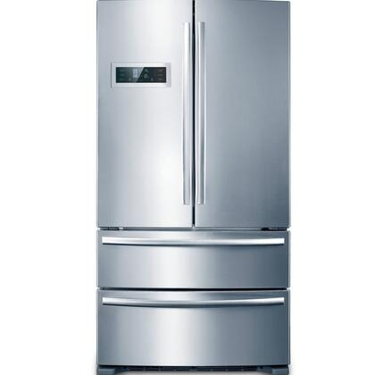 Midea Hc767we Midea 20 8 Cuft 4 Door Led Refrigerator