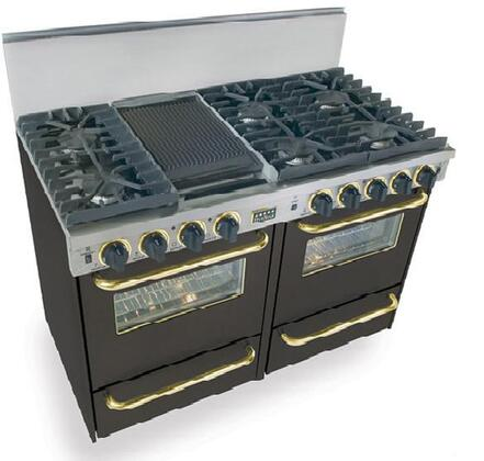 "FiveStar TPN5317SW 48"" Gas Freestanding  Appliances Connection"