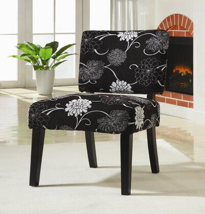 Coaster 902048 Armless Fabric Wood Frame Accent Chair