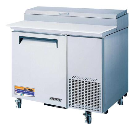 Turbo Air TPRSD Pizza Prep Table with Extra Deep cutting Board, Stainless Shelving, Insulated Pan Cover, Excellent Cooling System and Stainless Steel Cabinet Construction