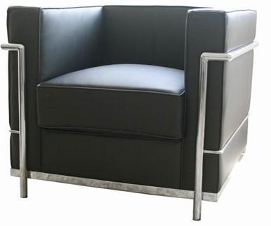 Wholesale Interiors 610CHAIRBLACK Le Corbusier Series  in Black