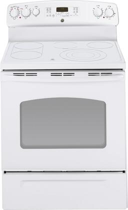 GE JB710TTWW  Freestanding Range with Smoothtop Cooktop, 5.3 cu. ft. Primary Oven Capacity, Warming in White