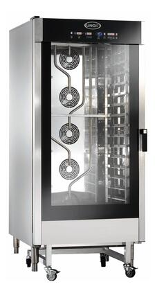 Unox XAV1605P Volt Cheftop Combi Oven with AIR.Maxi, STEAM.Maxi, DRY.Maxi and ADAPTIVE.Clima Itegrated Technology and Trolley in Stainless Steel with Door Handle on